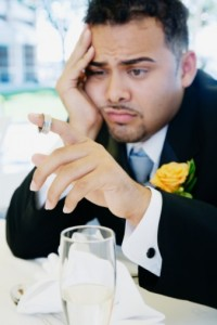 sad groom